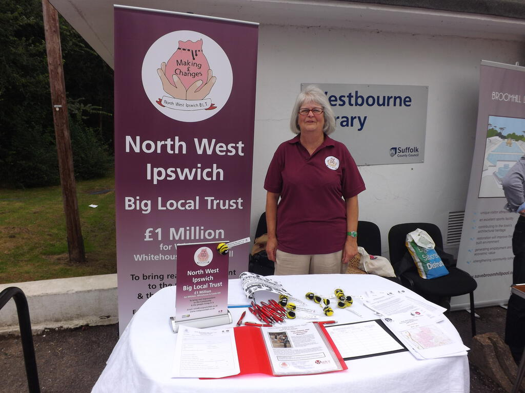 Our stand at the 2014 Westbourne Library Fete